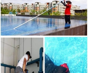 Cleaning Of The Swimming Pool